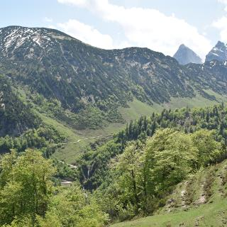 Blick vom Heuberg Richtung Kaisergebirge