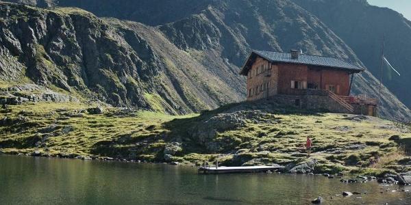 Die Tiefrastenhütte in den Pfunderer Bergen