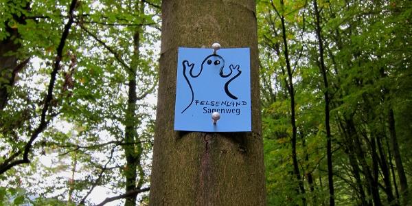 Dieses Wanderzeichen führt Sie bis zur Burg Fleckenstein