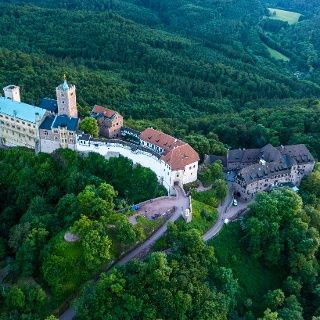 Die Wartburg im Thüringer Wald