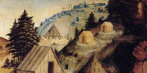 Bergbaulandschaft mit Pingenbergbau