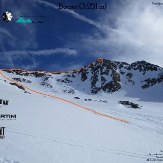 Skihochtour Botzer in der Texelgruppe - Topo