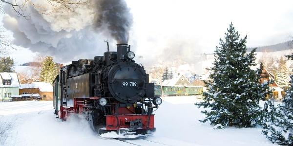 Mit der Fichtelbergbahn im Sehmatal