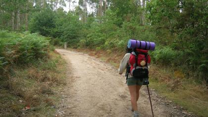 Auf dem Pilgerweg zum Etappenziel Lavacolla