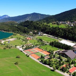 Panoramica del Life Park e del laghetto di Andalo