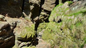 Foto Auf dem Wildschützensteig zur Schrammsteinaussicht