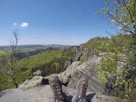 Foto Die Aussicht am Schrammsteinweg genießen
