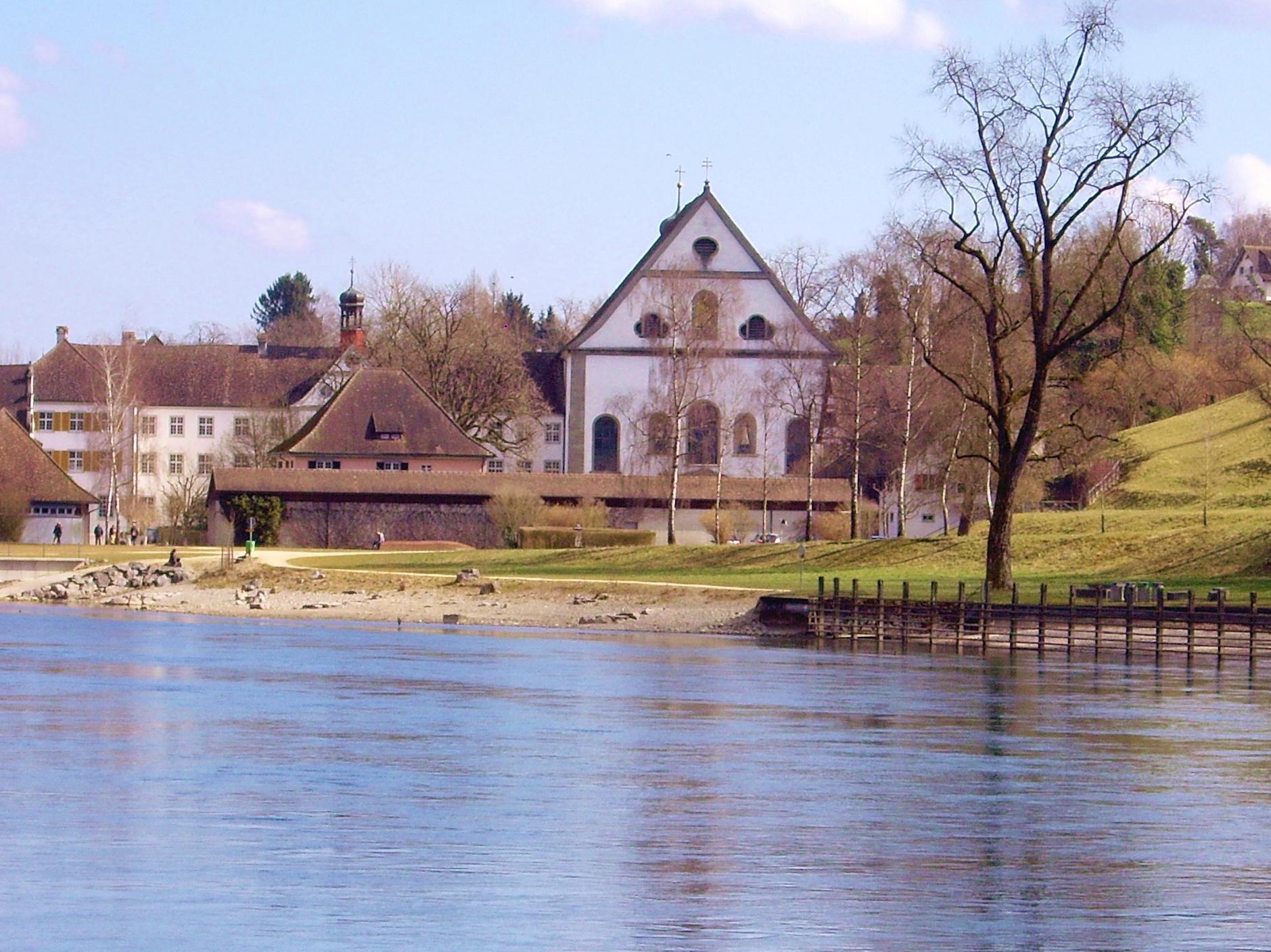 Blick über den Rhein zum Kloster Katharinental