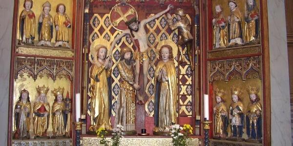 Altarskåp i Njutånger kyrka