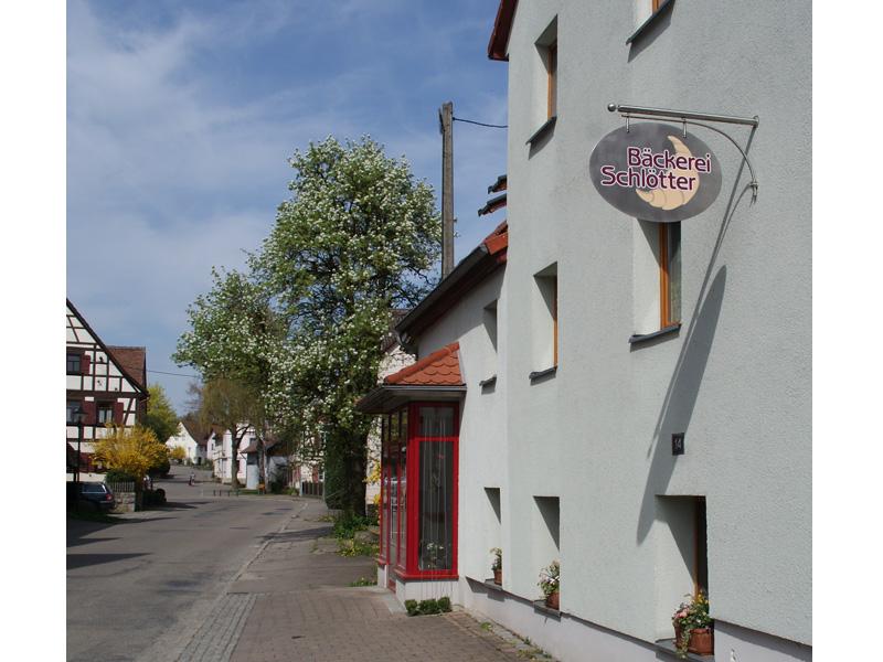 Bäckerei-Eingang  - @ Autor: Beate Philipp  - © Quelle: Bäckerei Schlötter