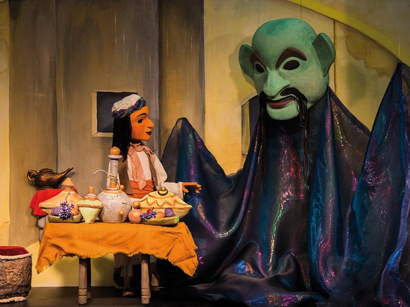 Aladdin und die Wunderlampe  - @ Autor: Beate Philipp  - © Quelle: Gerhards Marionettentheater