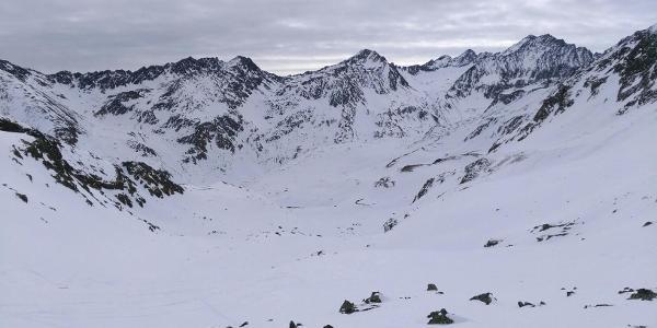 Rückblick vom Hüttenaufstieg Richtung Walfeskar