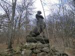 Foto Kentaur. Eine Skulptur, halb Mensch, halb Pferd