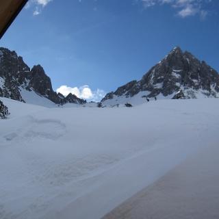 Ausblick auf die Dremelspitze von der Hanauer Hütte