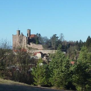 Blick auf Burg Hanstein