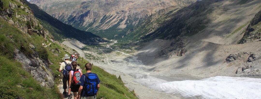 Descent to Morteratsch