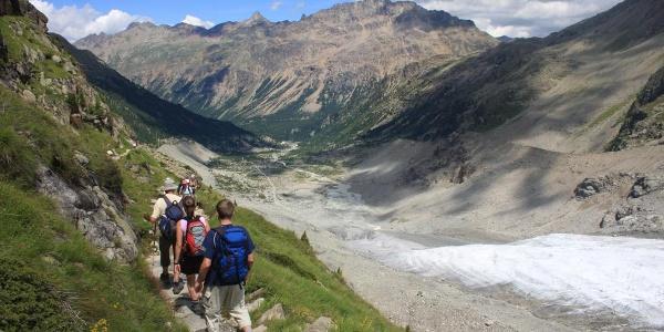 Abstieg Chuenetta