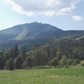 Blick auf den Großen Arber, von Brennes aus
