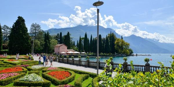 Die Seepromenade in Riva del Garda, fast am Ende der Route!