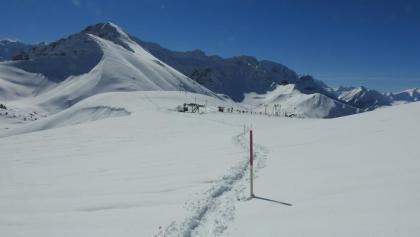 Die Skistation Homatti ist bereits passiert und es wartet der (nicht allzusteile) Aufstieg