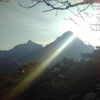 View towards Baegundaesan from Yeongbonsan