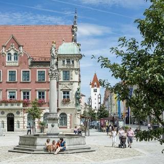 Der Marienplatz in Mindelheim