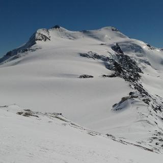 Zufallspitze (3.757 m) und Cevedale (3.769 m)