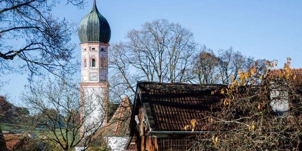 Themenweg - Mühlenweg - Blick auf die Kirche St. Agatha