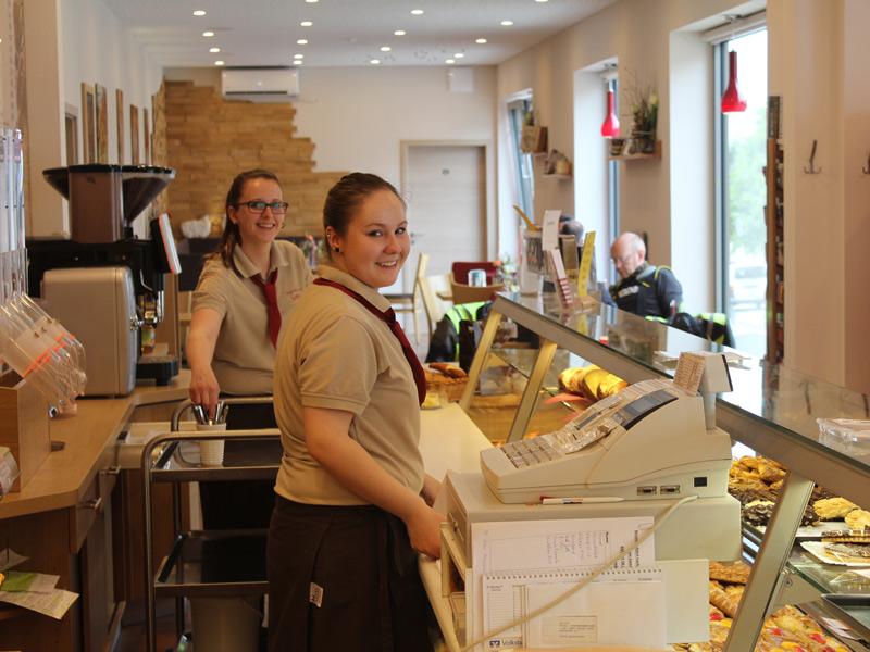Freundlich eingerichtetes Cafe  - @ Autor: Beate Philipp  - © Quelle: Bäckerei Sohns