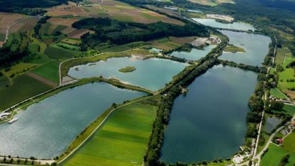 Luftbild Zielfinger Seen