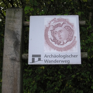 Beschilderung Archäologischer Wanderweg