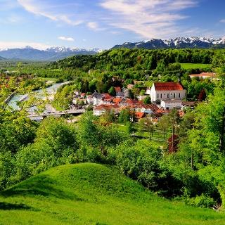Blick von Kalvarienberg über Bad Tölz