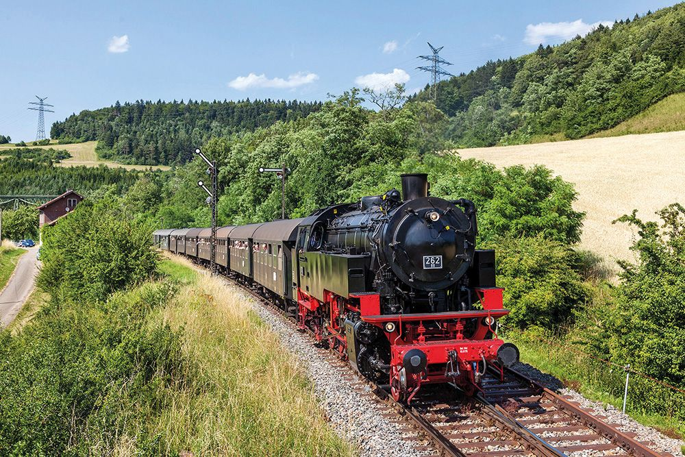 Sauschwänzlebahn beim Bahnhof Epfenhofen