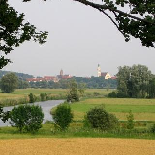 Wörnitz mit Blick auf Donauwörth