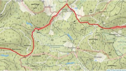 korrigierter Abschnitt des Westweges Etappe 10