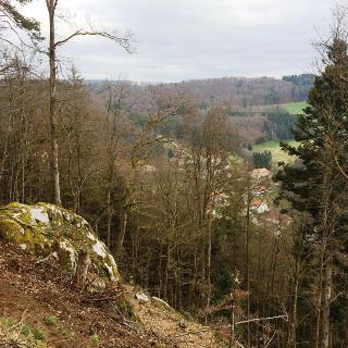 Auf dem Fuchsweg mit Blick nach Tiefenstein und Görwihl