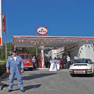 die Retro-Tankstelle auf dem Kniebis
