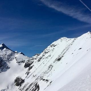 Gipfelgrat: Schneespitz, Hoher Tenn und Wiesbachhorn (re.)
