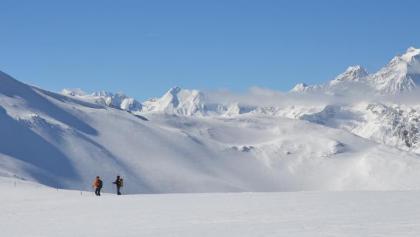 Skitour zum Eggerjoch mit Habicht im Hintergrund, Steinach am Brenner