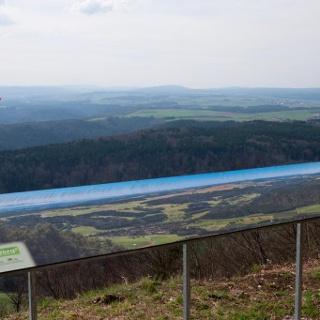 Panoramatafel am Eichbergstutz