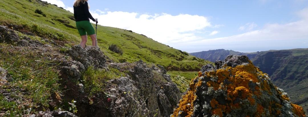 Oberhalb des Valle Gran Rey in Richtung La Vizcaína