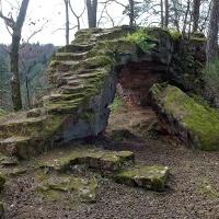 Details der Ruine Hohenfels