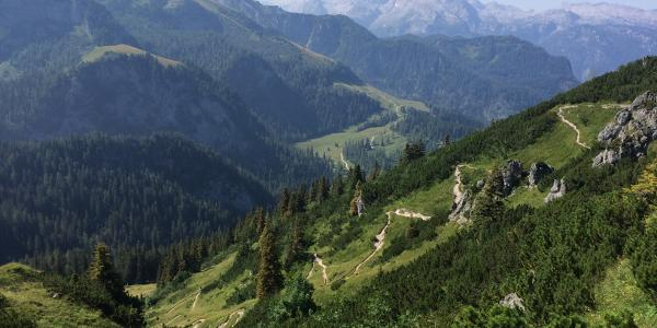 Weg unterhalb der Bergstation