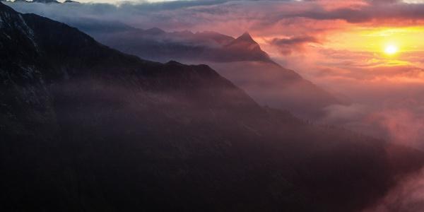 Morgenstimmung auf der Kaltenberghütte