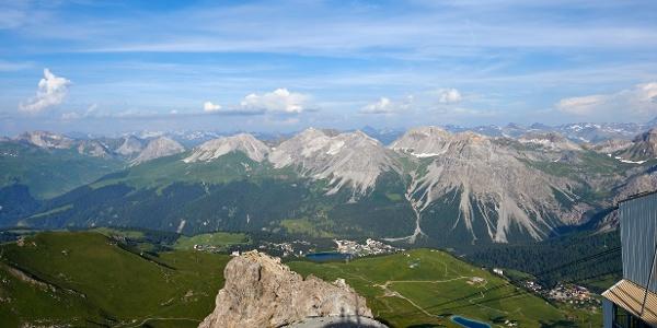 Die Bergstation der Luftseilbahn Arosa-Weisshorn