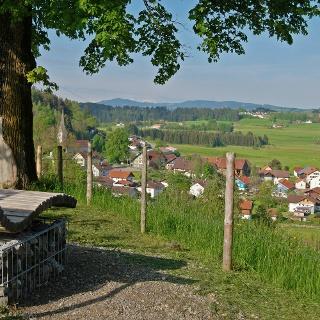 An der Radrunde Allgäu bei Röthenbach.