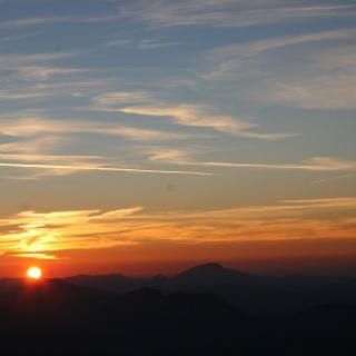 Sonnenuntergang bei der Fischerhütte