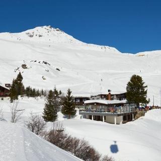 Das Restaurant Alpenblick im Winter