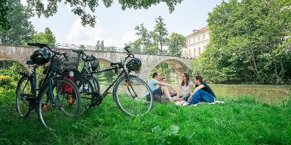 Rast an der Schlossbrücke in Weimar