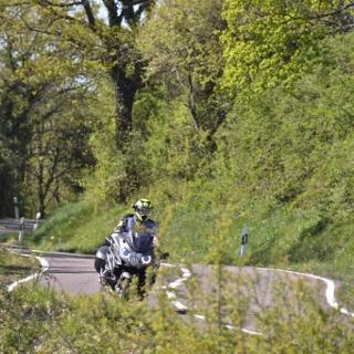 Motorrad fahren im Bliesgau